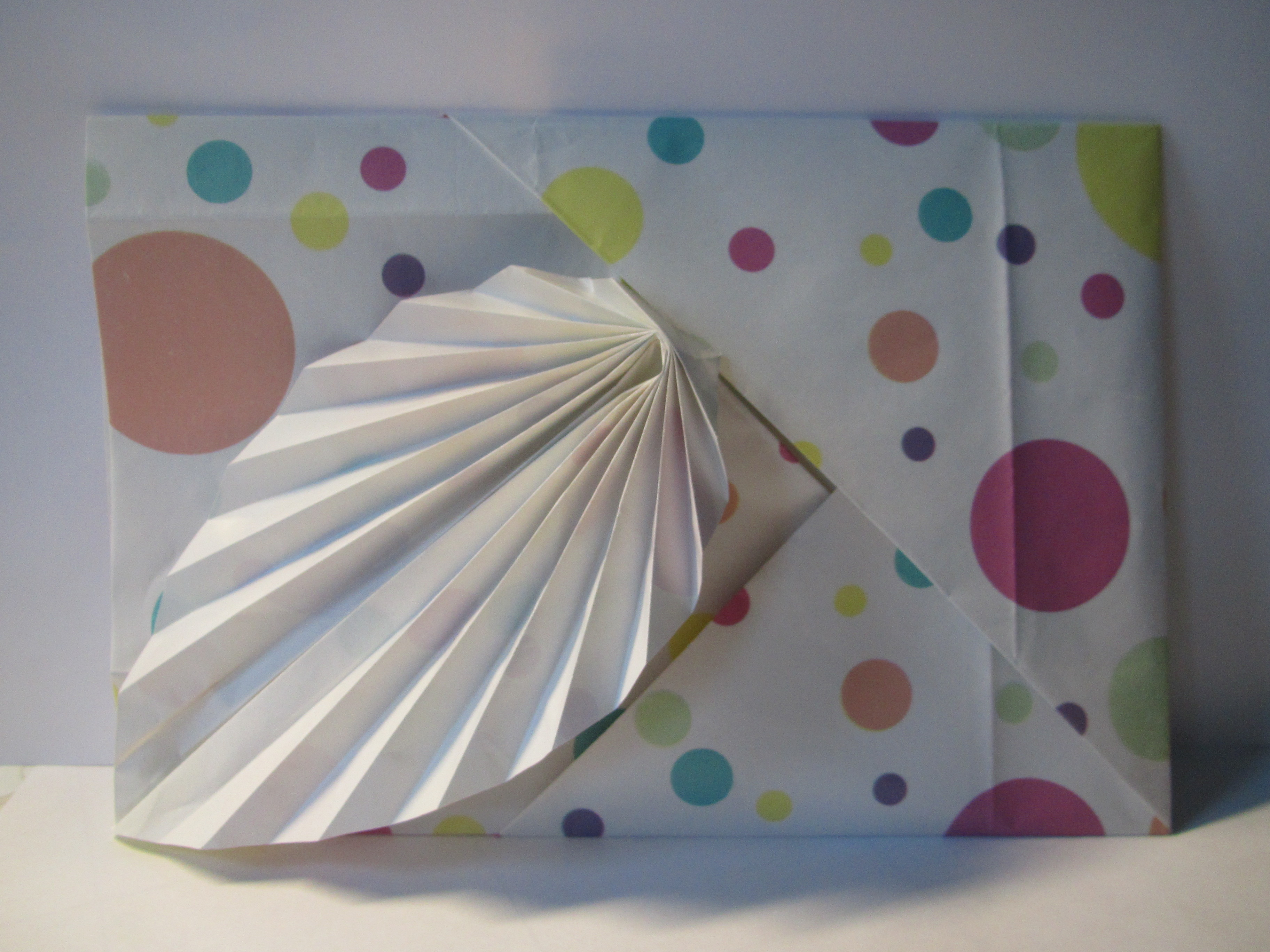 Felt birthday card and origami leaf envelope 2kidslandkrafts how to make the envelope advertisements bookmarktalkfo