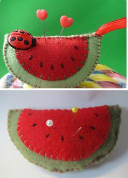 Felt Watermelon Pincushion