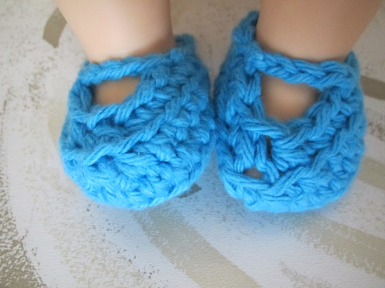 Crochet Shoes for Doll