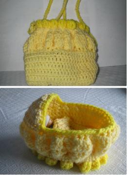 American Girl Doll Crochet Purse - hookingisalifestyle | 359x263