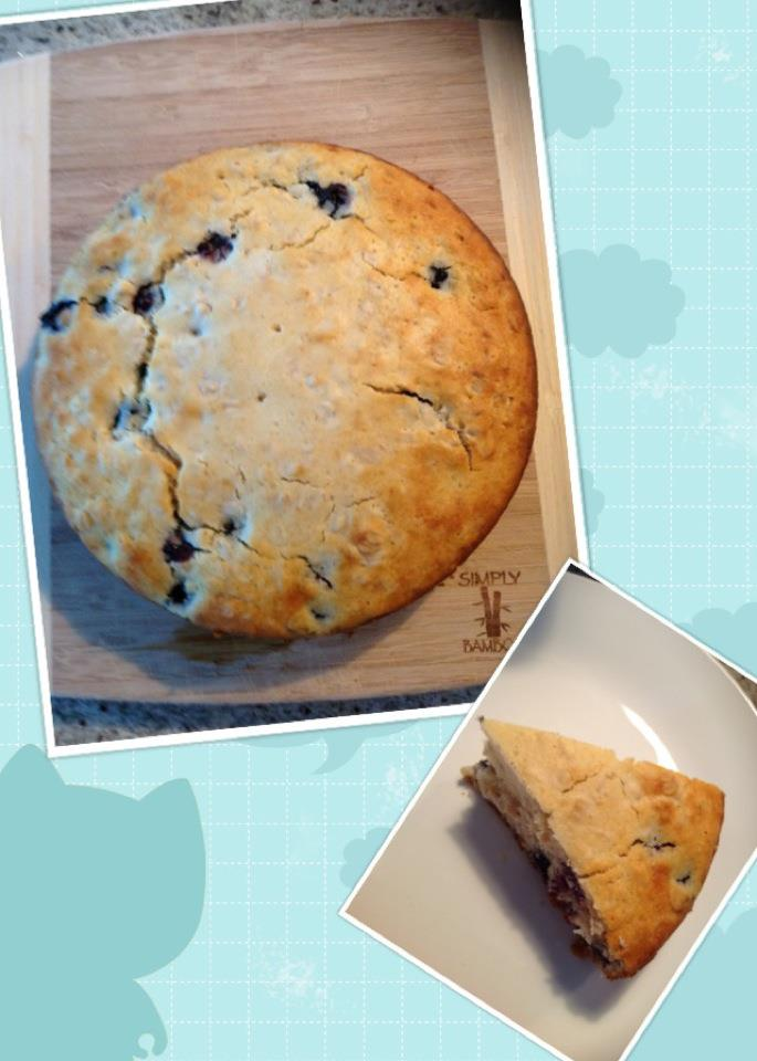 Recipe – Blueberry Oatmeal Breakfast Cake | 2KidslandKrafts