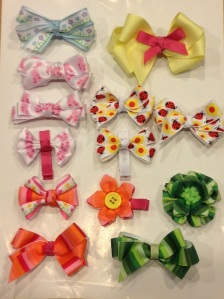 07 Ribbon hair clips
