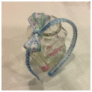 08 Ribbon headband with bow hair clip