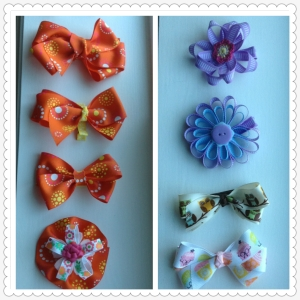 09 Ribbon hair clips