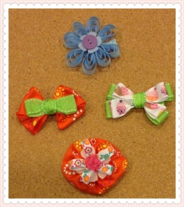 10 Ribbon hair clips
