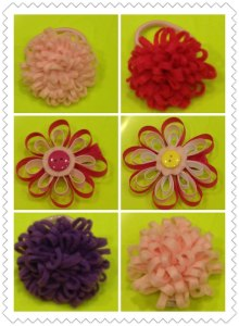 13 Ribbon hair clips