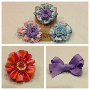 14 Ribbon hair clips