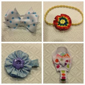 17 Ribbon hair clips