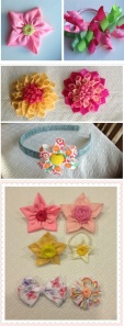 18 Ribbon hair clips