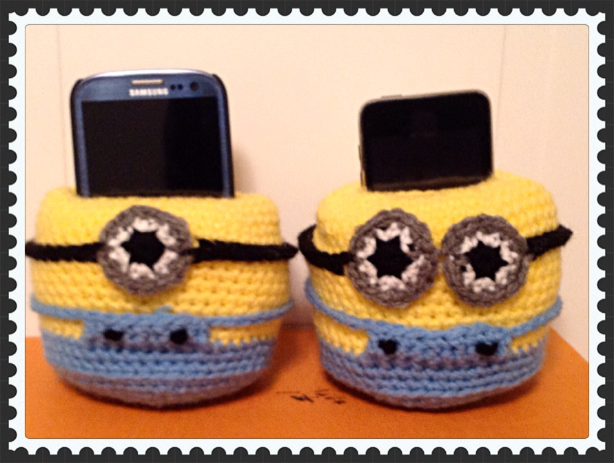 Pattern Crochet Cell Phone Holder Despicable Me Minion