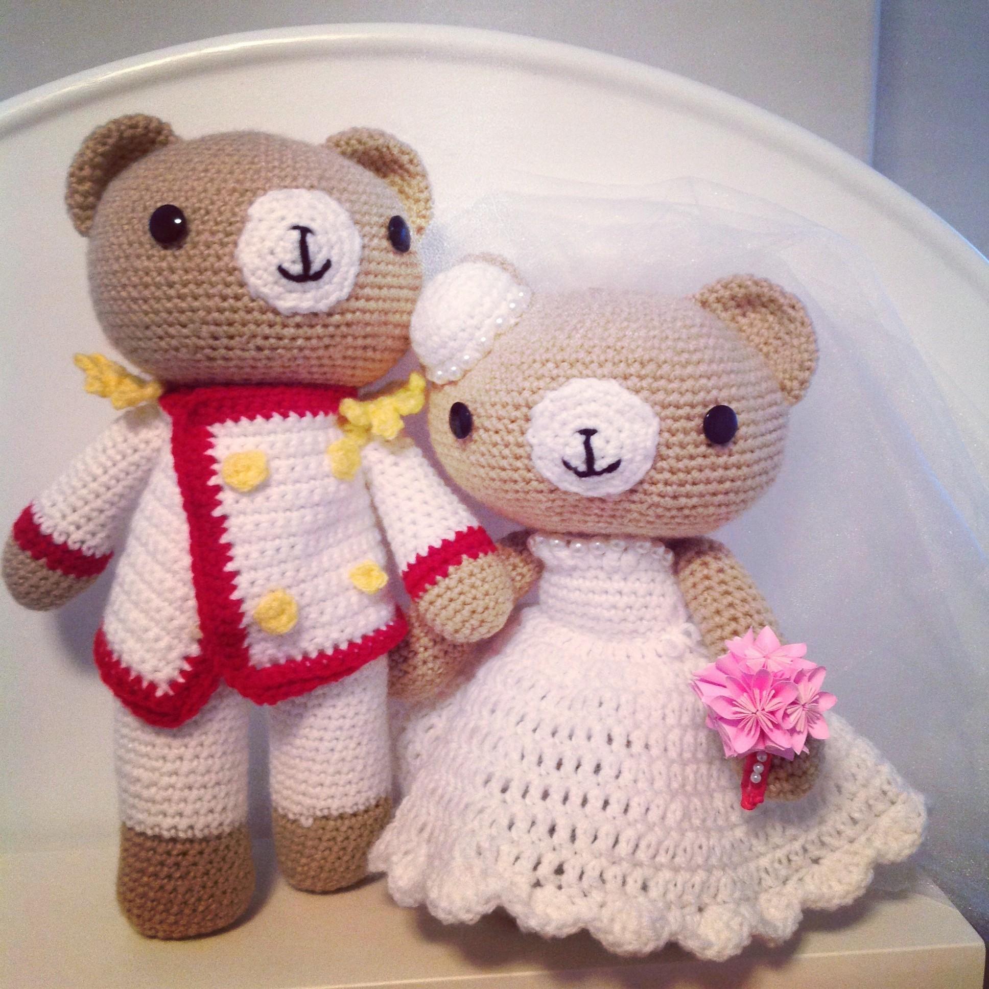 Free Amigurumi Patterns Owls : Pattern Crochet Wedding Bear Couple 2KidslandKrafts