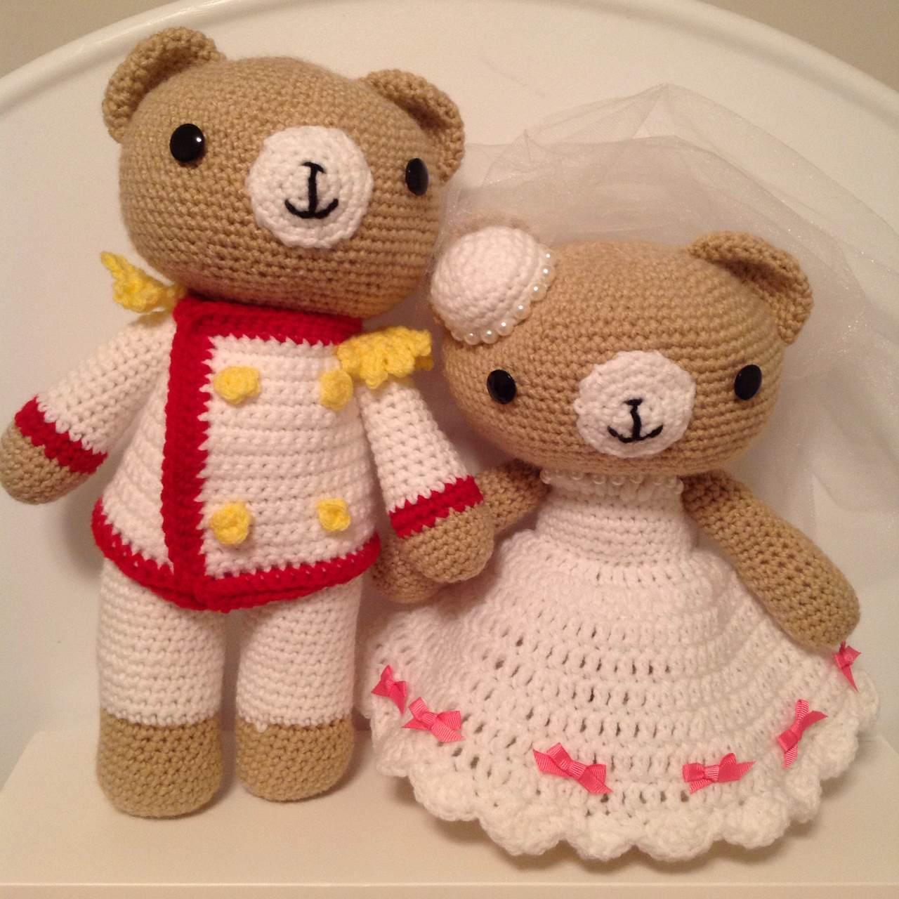 Crochet Wedding Gift Patterns: Pattern – Crochet Wedding Bear Couple