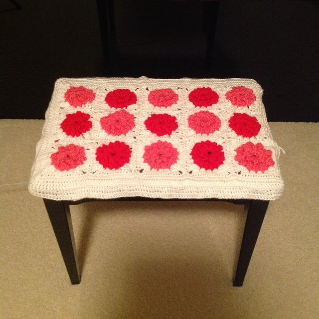 Super Crochet Granny Square Piano Bench Cover 2Kidslandkrafts Uwap Interior Chair Design Uwaporg