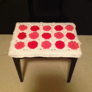 granny square bench cover