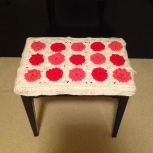 granny square bench cover