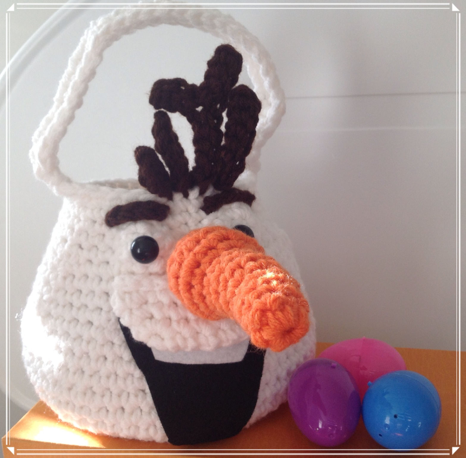 Crochet Olaf Easter Egg Hunt Basket 2KidslandKrafts