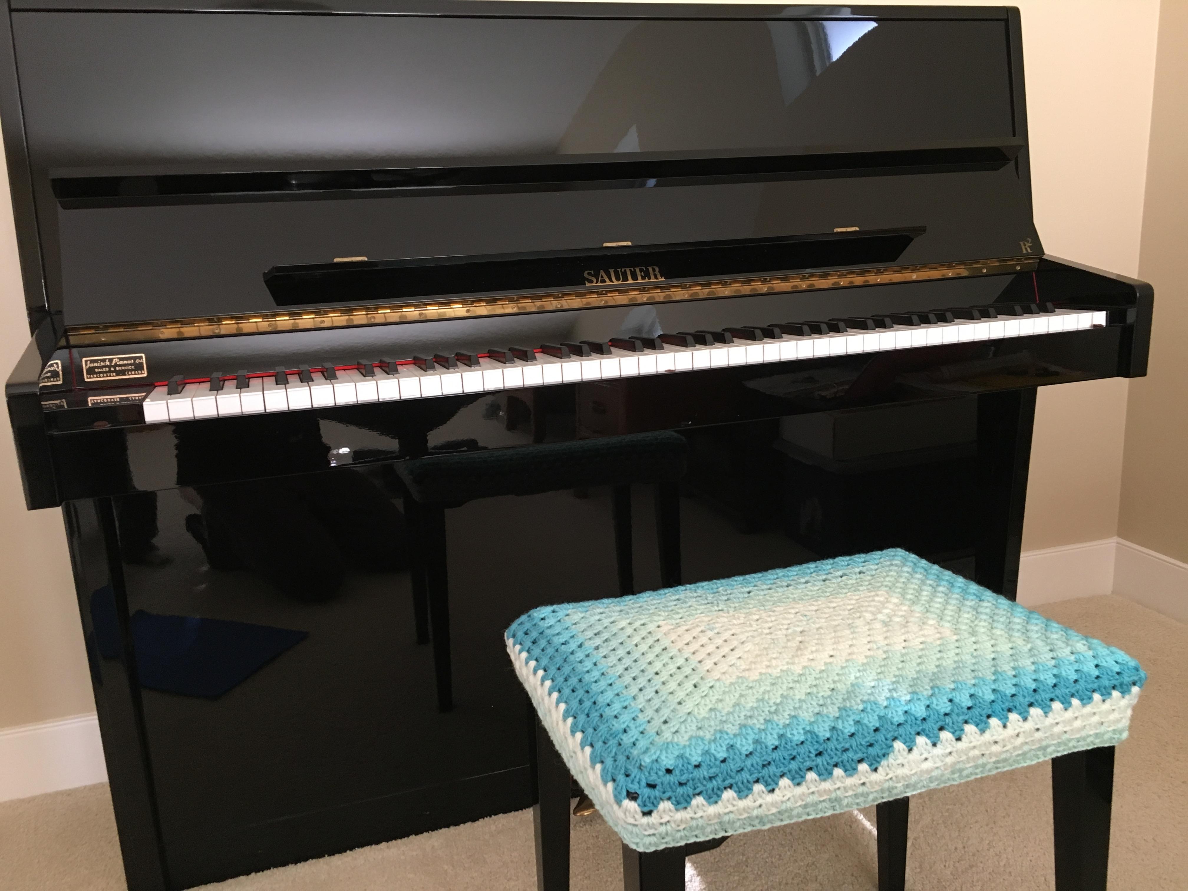 Crochet Piano Bench Cover Free Pattern 2kidslandkrafts